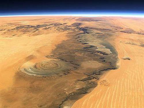 El cráter de Arizona podría no ser un cráter Eye-of-africa-1